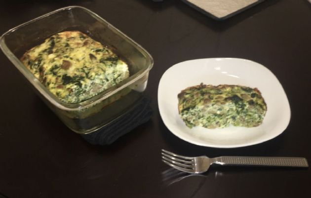 Egg,Sausage,Cheese,Veggie Cassarole [Low Carb]